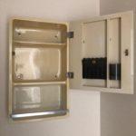 洗面台の収納付き鏡