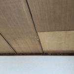 和室4.5畳の天井。過去に上の階からの漏水があったのかなと思いました。